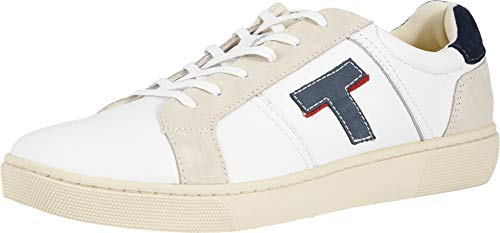 TOMS Men's Leandro White Smooth Leather 10.5 D US ()