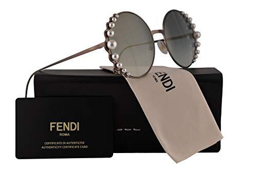 Fendi FF0295/S Sunglasses Semi Matte Bronze w/Green Silver Mirror Lens 58mm J7DEZ FF0295S FF 0295S FF 0295/S