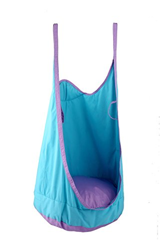 HappyPie Frog Folding Hanging Pod Swing Seat Indoor and Outdoor Hammock for Children to Adult (Blue)
