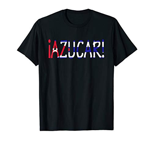 AZUCAR Cuban Flag Latino Pride T-Shirt