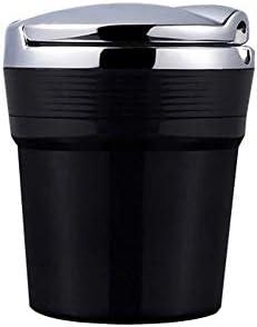 EUEMCH 車用灰皿金属たばこ喫煙カップ灰皿灰ホルダー車用LED付きブラック/ゴールド
