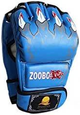 Zoobo Boxing Full Finger Gloves - Free Size,Blue