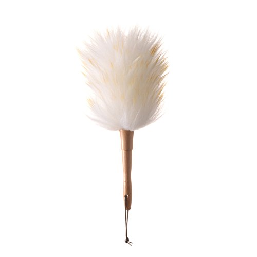 (Deselen - WD02-13.2 Inch Pure Lambs Wool Feather Duster with Wooden-Dowel Handle)
