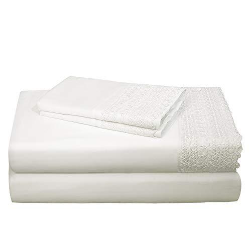 (AURAA Smart 1400 Thread Count Cotton Rich, 4 Piece Sheet Set, Queen Sheets, 16