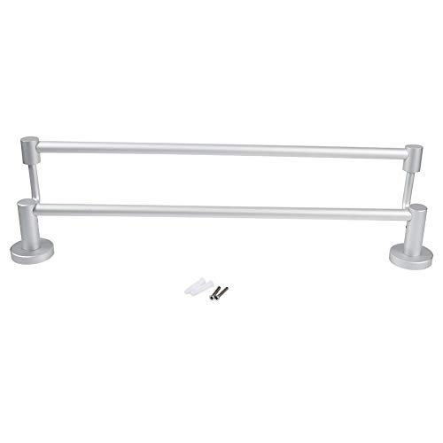 Zerodis 20 Inches Bathroom Double Towel Bar, Aluminum Wall Mounted Bathroom Shelves Towel ()