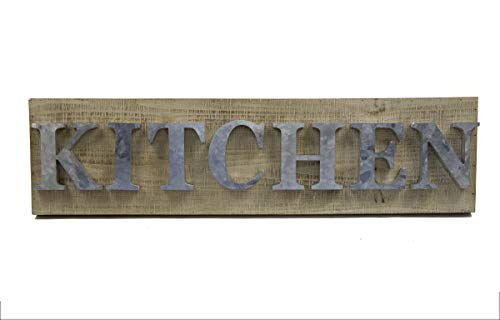 Designstyles Vintage Kitchen Decor Plaques - Kitchen Decorative Wooden Wall and Door Signs - Classic Housewarming and Hostess Gifts - Stylish Urban Chic Design