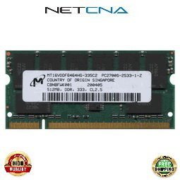 DC390B 512MB HP-Compaq Pavilion/Presario/Evo Laptop PC2700 DDR333 SODIMM 100% Compatible memory by NETCNA (Presario Ddr333 Memory)