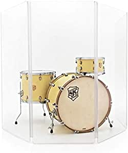WHD Drum Screen 4 Panel Clear Acrylic Shield: Amazon.es: Instrumentos musicales