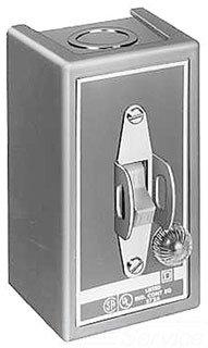 2 Pole, 30 Amp, 1 Hp at 90 VDC, 1-1/2 Hp at 230 VDC, 2 Hp at 115 VAC, 2 Hp at 115 VDC, 2 Hp at 230 VAC, 3 Hp at 460 VAC, 3 Hp at 575 VAC, Enclosed Toggle Manual Motor Starter ()