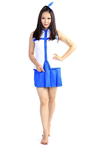 SDWKIT Fairy Tail Cosplay Costume Blondie Princess Heartfilia Lucy Outfit Set V1
