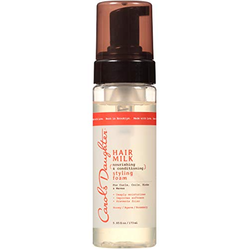 Curly Hair Products by Carol's Daughter, Hair Milk Styling Foam For Curls, Coils and Waves, with Honey, Rosemary and Macadamia Oil, 5.85 fl oz (Design and Packaging May Vary)