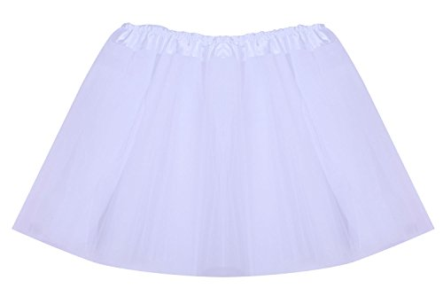 [SUNNYTREE White Tutu for Girls Dance Costumes Party Dress Ballet Skirts White] (Homemade Character Costumes Ideas)