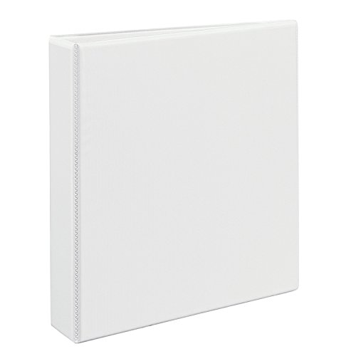 White Durable Vinyl Binder - Avery 09401 Durable View Binder w/Nonlocking EZD Rings, 11 x 8 1/2, 1 1/2