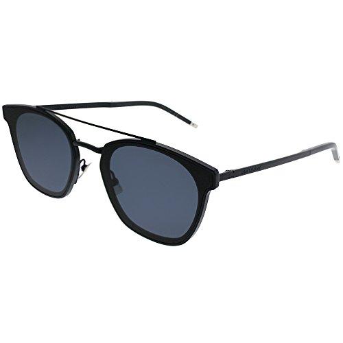 Saint Laurent SL 28TMetal 002 Blue Plastic Rectangle Sunglasses Blue (Plastic Rectangle Sunglasses)
