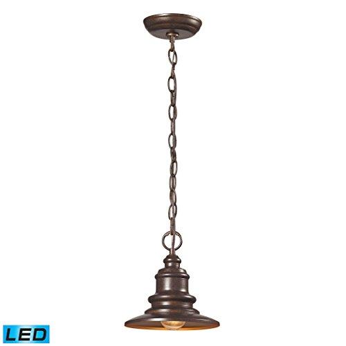 Alumbrada Collection Marina 1 Light Outdoor LED Pendent In Hazelnut Bronze