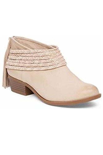 BCBGeneration Womens Craftee Leather Cap Toe Ankle Fashion Boots, Sand, Size 6.5