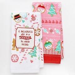 St. Nicholas Square Christmas Cotton Kitchen Towel Set - Cookies & Grandma