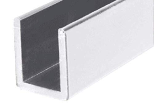 CRL Bright Anodized Frameless Shower Door Aluminum Deep U-Channel for 3/8