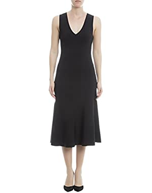 Theory Women's H0216704001 Black Cotton Dress