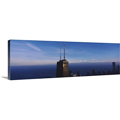GREATBIGCANVAS Gallery-Wrapped Canvas Entitled Skyscrapers in a City, Hancock Building, Chicago, Cook County, Illinois by 60