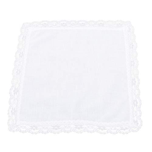 (lehao Bridal Wedding Crochet Lace Handkerchief Ladies' Handkerchiefs Lace Set of 12)