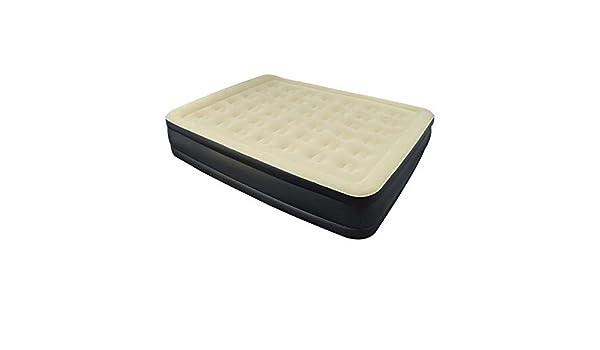SOULONG Cama Inflable Individual Colchón Inflable Doble con Tela flocada cómoda, para Acampar, 203 x 157 x 48 cm