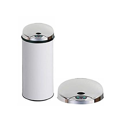 Carpemodo Sensor Cubo de basura Cubo de basura con sensor de movimiento 45 L volumen Blanco