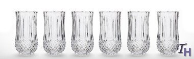 Collection Drinkware Crystal (Studio Silversmiths Medea Collection Crystal Highball Glasses (set of 6))