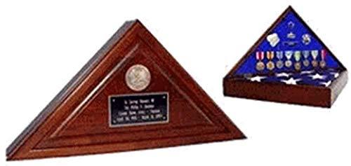 Walnut Cherry Heirloom Finish, Wood Flag Case, Flag Display Case