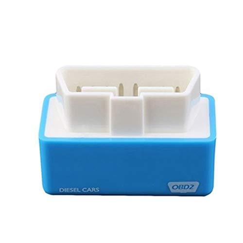 zzpopGG Adapter,Fuel Saving,Car,Drive Box,ECO OBD2 Car Vehicle Plug Drive Performance Chip Tuning Box Interface Fuel Saver - Blue Diesel