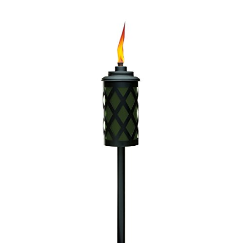 Tiki Brand 65-Inch Urban Metal 4-in-1 Torch, Army Green