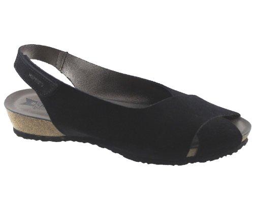 Mephisto-Chaussure Sandale-INDREA Noir daim 500-Femme