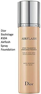 9442aa8c Dior Backstage Airflash Spray Foundation 104 Fair Almond (Very light: cool  undertone, balances redness) 2.3 oz