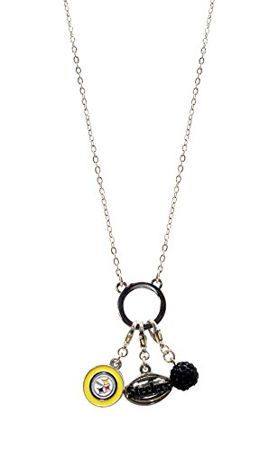 (NFL Pittsburgh Steelers Three Charm Logo Necklace)