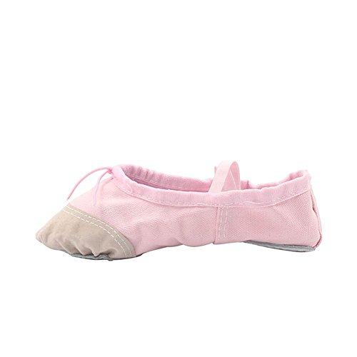 Womans Classic Yoga Canvas Ballet Dancing Shoes Pink ZmccKqb