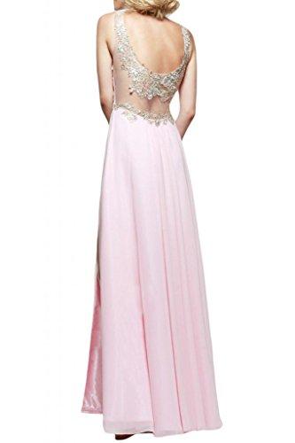 Toscana sposa modo delle signore fessura abiti da sera Chiffon lungo in tulle damigella d'onore del partito hard ball Gowns