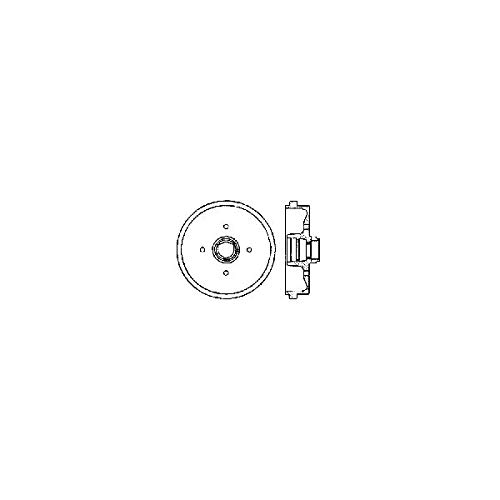 Parts Panther OE Replacement for 1975-1989 Volkswagen Scirocco Rear Brake Drum (16-Valve/Base/GL/S)