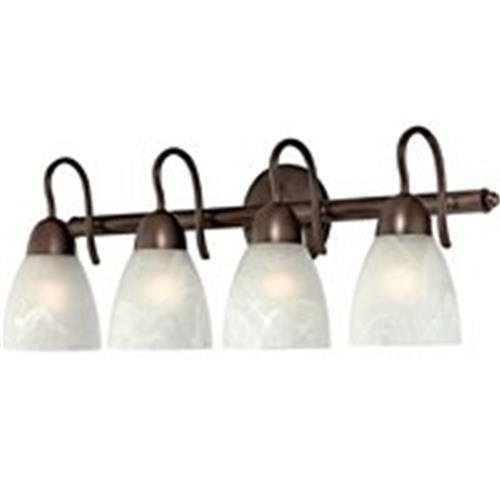 Boston Harbor V83NK04-VB 9002858 Dimmable Vanity Light Fixture, (4) 60/13 W, Medium, A19/Cfl Lamp, Venetian, Bronze (Venetian Lamp Wall)