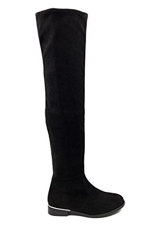 NANA r en plate effet femme daim CHIC cuissarde Chaussure 8xfXBda