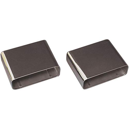 (Eckler's Premier Quality Products 25102974 Corvette Exhaust Tips Stainless Steel Rectangular)