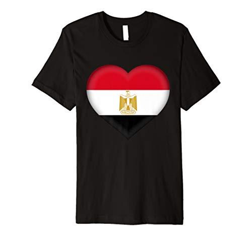 I Love Egypt T-Shirt   Egyptian Flag Heart Outfit