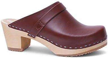 Sandgrens Swedish High Heel Wooden Clog Mules for Women Dublin