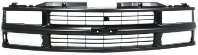 Evan-Fischer EVA17772010587 Grille Assembly Grill Plastic shell and insert Black With dual headlight holes (99 Blazer Grill compare prices)