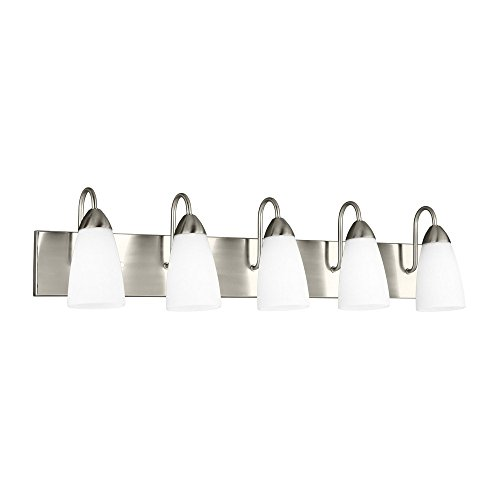 Sea Gull Lighting 44351-965 Laurel Leaf Three Light Wall / Bath Vanity Style Lights, Antique Brushed Nickel Finish