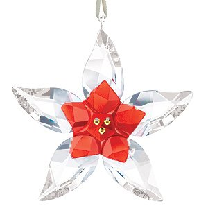 Swarovski Crystal Poinsettia Ornament Lg