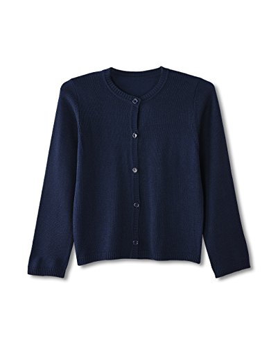 Sunshine Swing Girls Autumn Spring Knitted Kid Sweater Single Breasted Long Sleeve Cardigan for Children Navy Blue