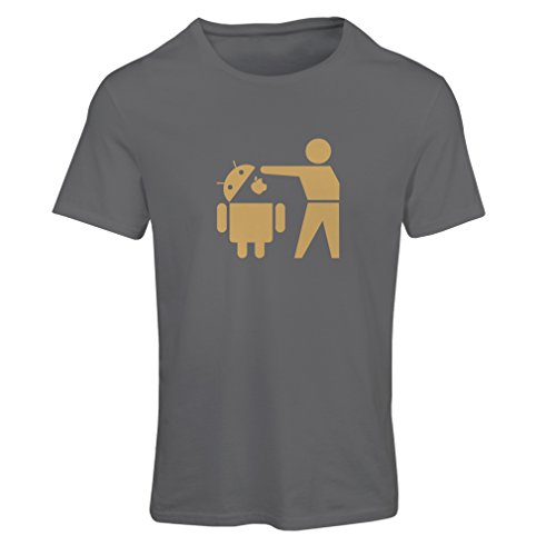 Camiseta mujer Robot Android divertido - regalo para los fans de tecnología Grafito Oro