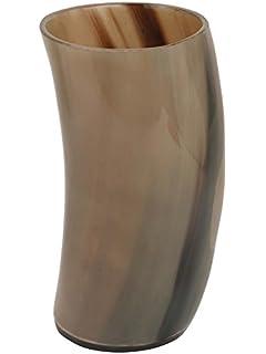 Amazon Com Small Horn Viking Drinking Mug Cups Ale Beer Wine