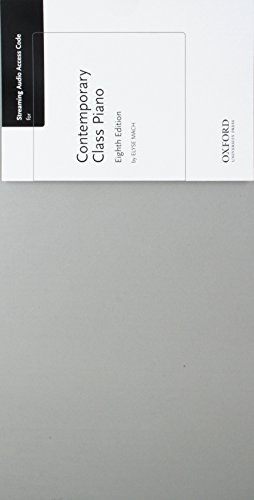 Contemporary Class Piano Streaming Audio Access Code Card