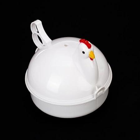 Huevera Cocedor 4 Huevo para Microondas en Forma de Gallina ...